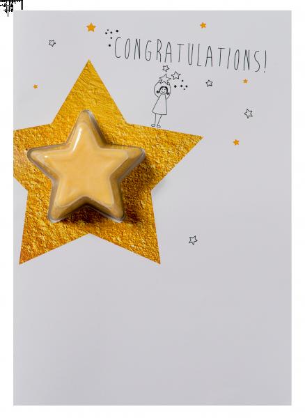Congratulations Star Blaster Card